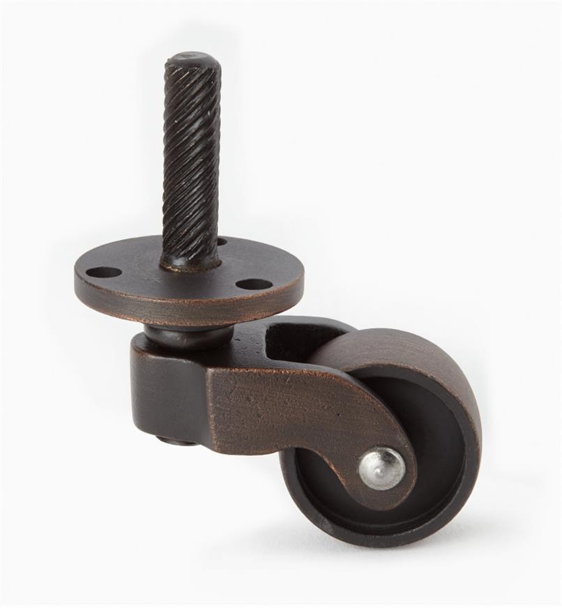 00W9860 - Roulette en vieux bronze avec rondelle de 1po, l'unité