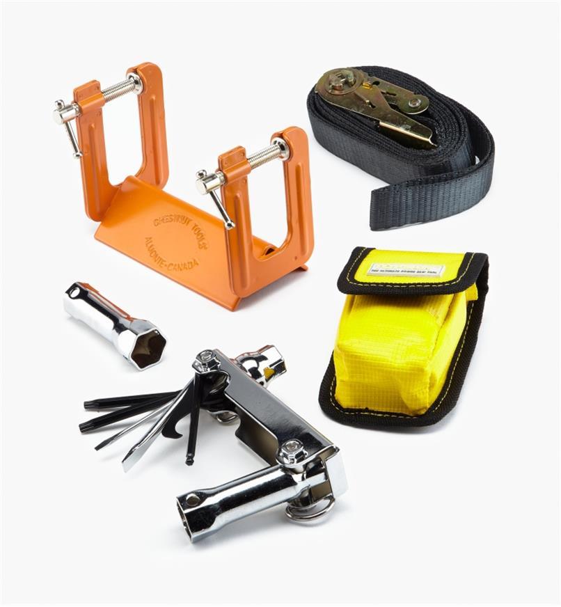 75U0335 - Étau d'affûtage et outil multifonction pour scie à chaîne