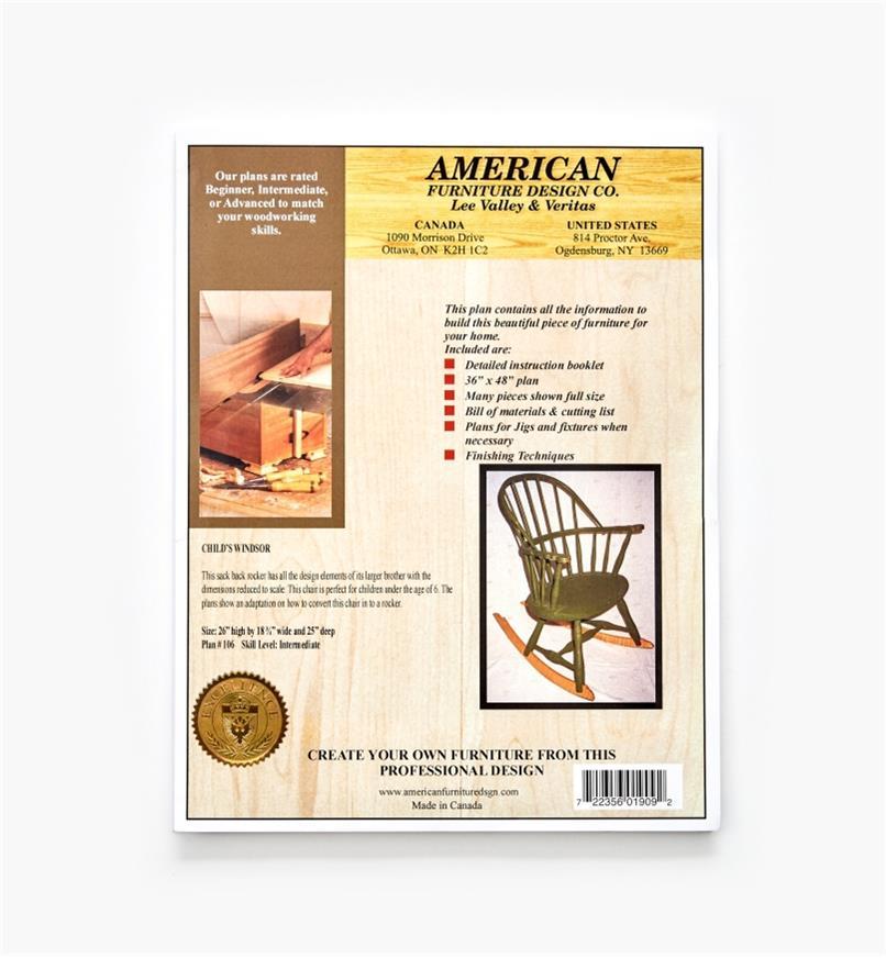 01L5043 - Child's Windsor Chair Plan