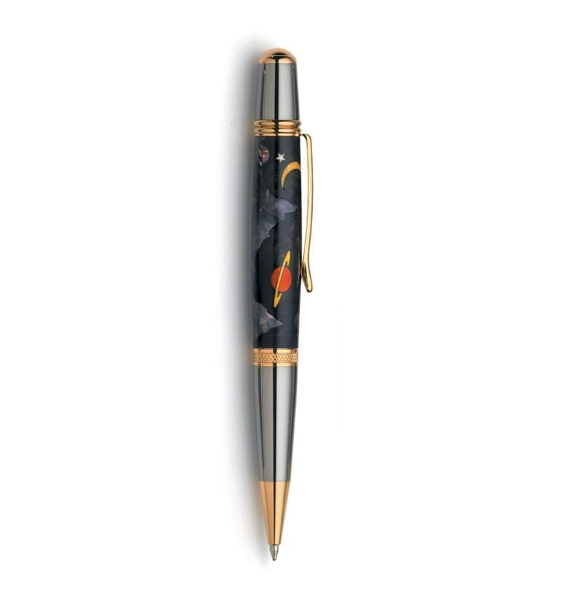 Exemple d'un stylo terminé. Carrelet non compris.
