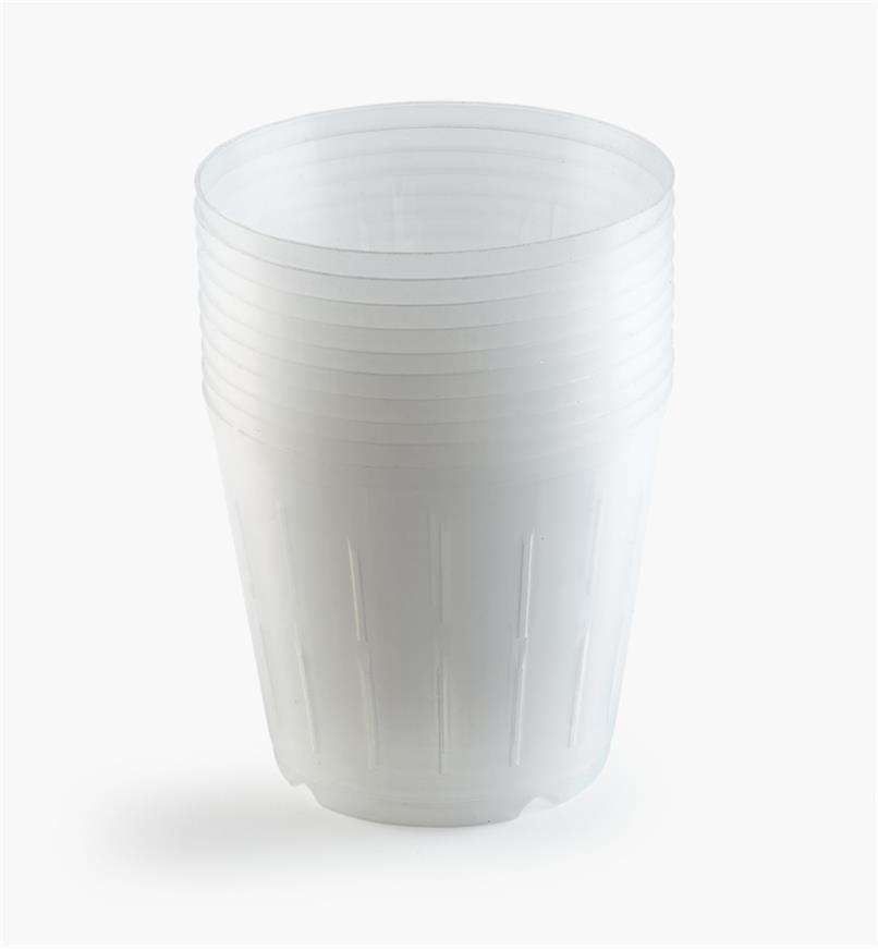 XB755 - Pots transparents pour orchidées, le lot de10