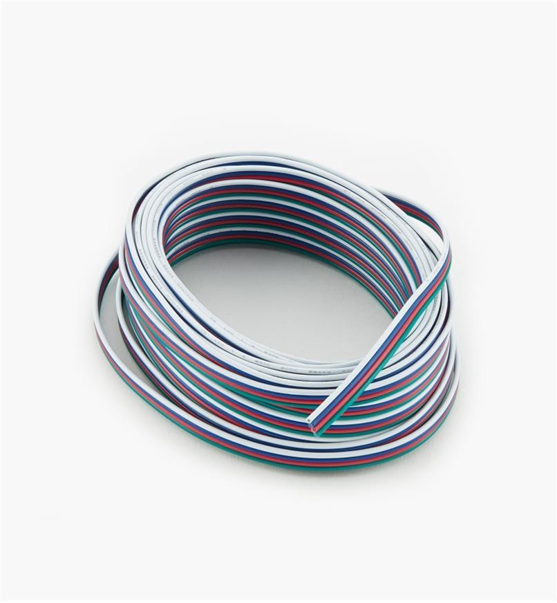 00U4166 - Câble plat à quatre fils toronnés pour l'intérieur de 26,2pi (8m), cal.22