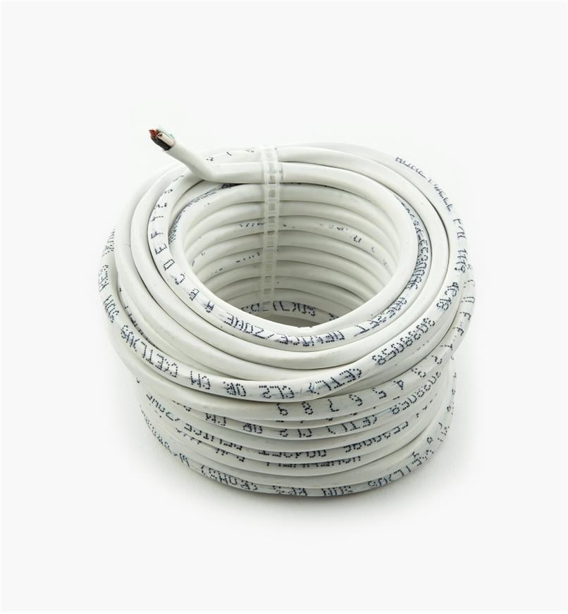 00U4168 - 18ga. Four-Conductor In-wall Wire, 26.2' (8m)