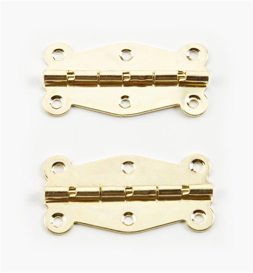 00D8012 - 50mm x 25mm Decorative Stop Hinges, pr.
