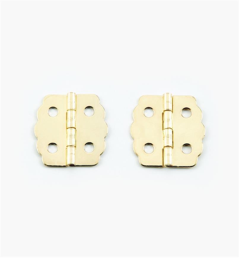 00D8030 - 23mm x 22mm Decorative Hinges, pr.