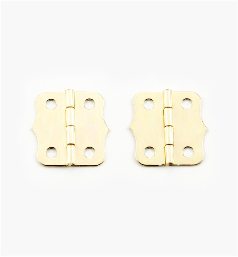 00D8031 - 24mm x 24mm Decorative Hinges, pr.