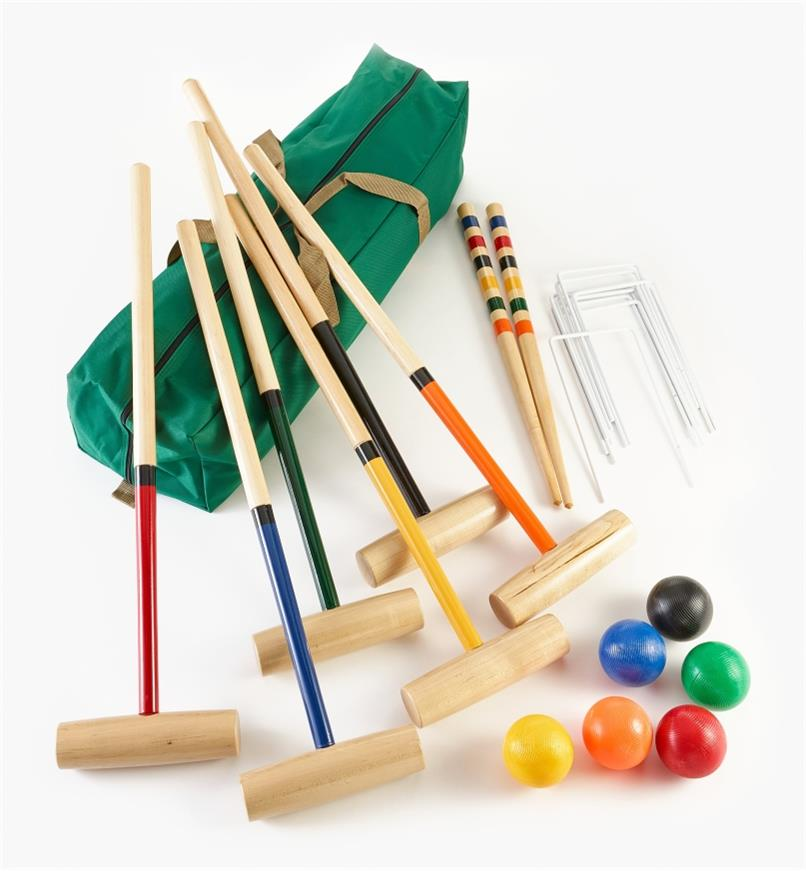 KC607 - 6-Player Croquet Set