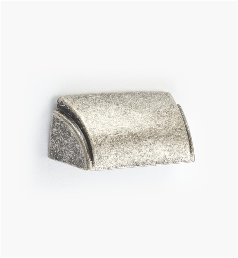 00A7028 - Poignée en coupelle de 32mm, série Alfonso, fini argent ancien