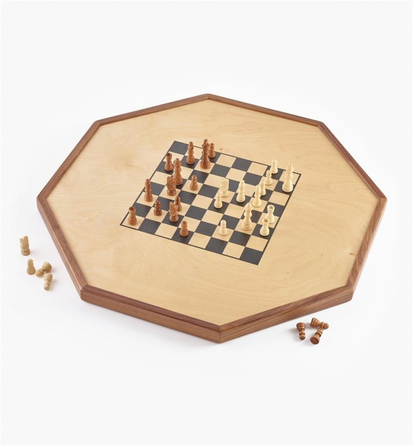 Checker/chess side of Deluxe Crokinole/Checker/Chess Board