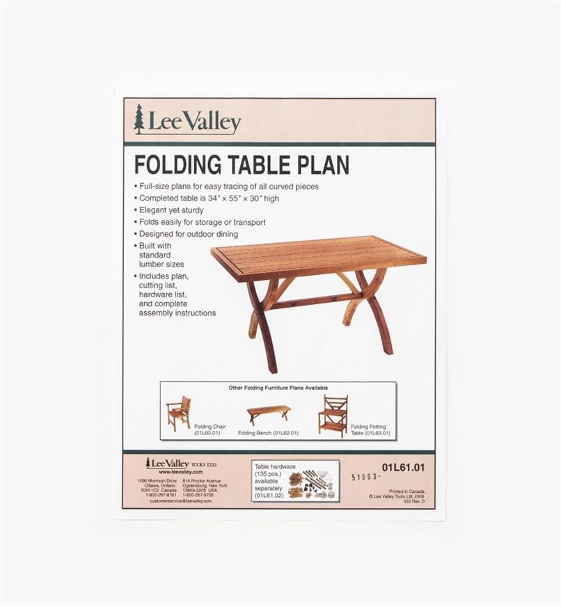 01L6101 - Folding Table Plan