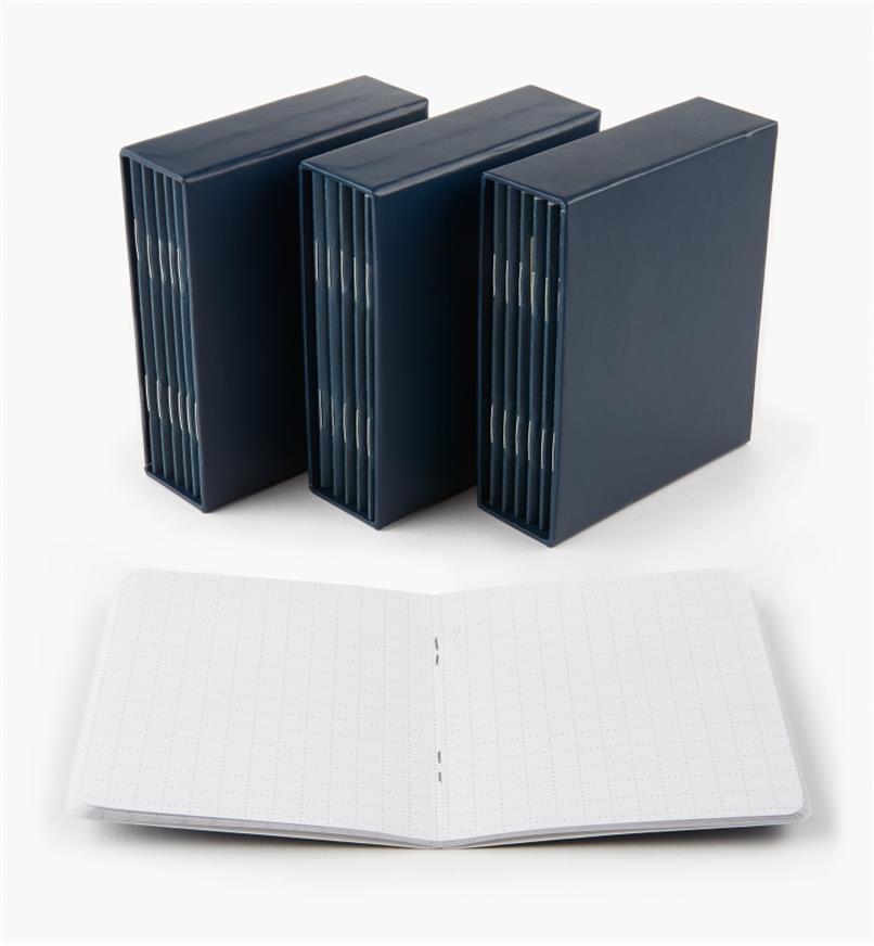 09A0735 - Jeux de 6 carnets-mémoire, le lot de 3
