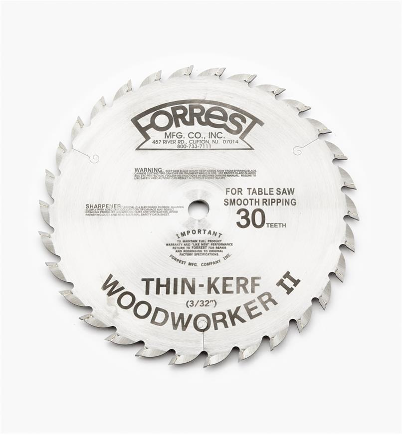 "15T4126 - Woodworker II Blade,10"" x 30-Tooth, 3/32"" Kerf"