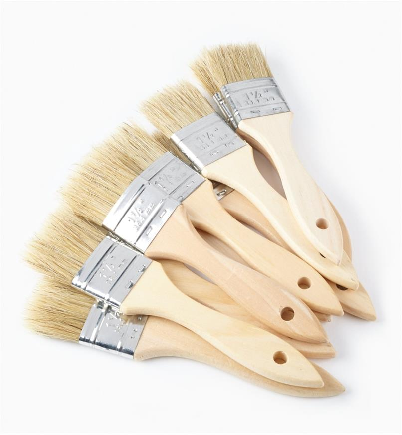 "56z9923 - 1 1/2"" Bristle Brushes, pkg of 10"