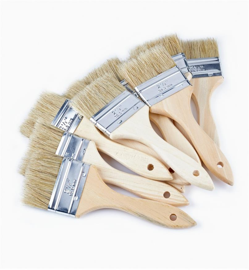 "56z9924 - 2 1/2"" Bristle Brushes, pkg of 10"