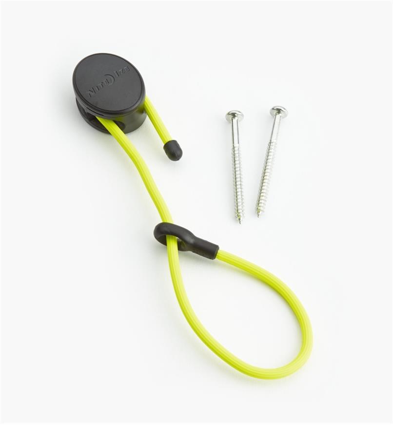 68K0701 - Attache flexible de 12po et ancrage Gear Tie, jaune, l'unité
