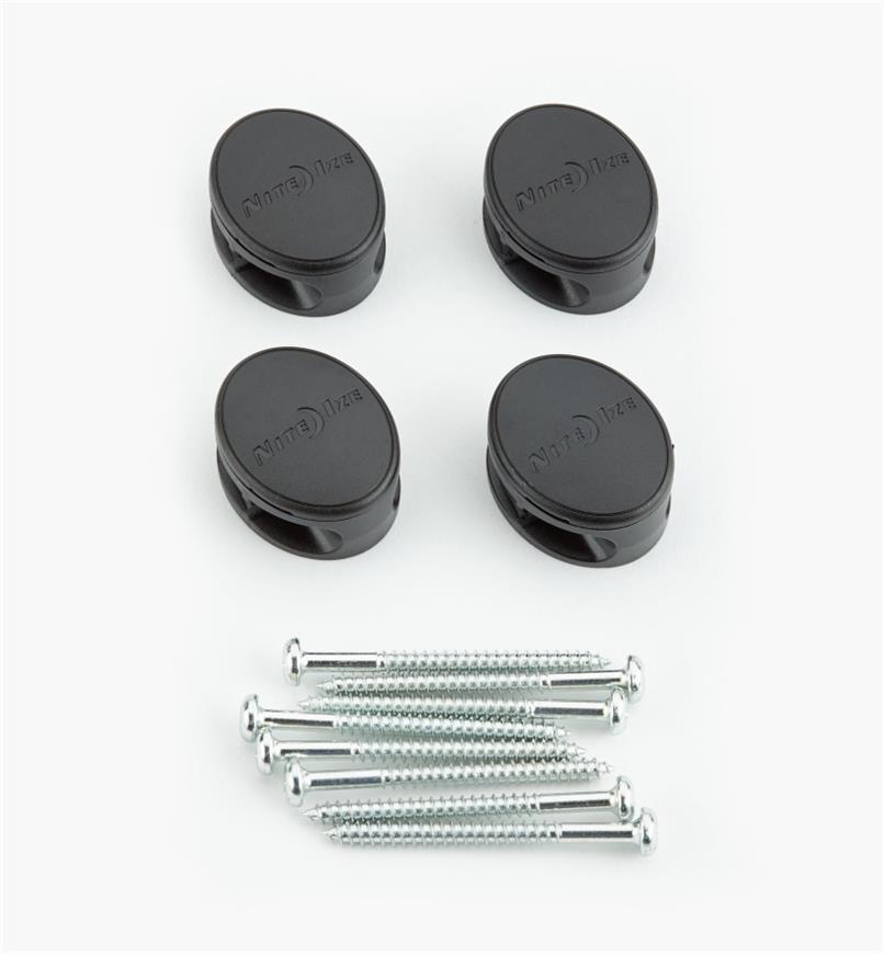 68K0800 - Ancrages pour attaches de 12po GearTie, lelotde4