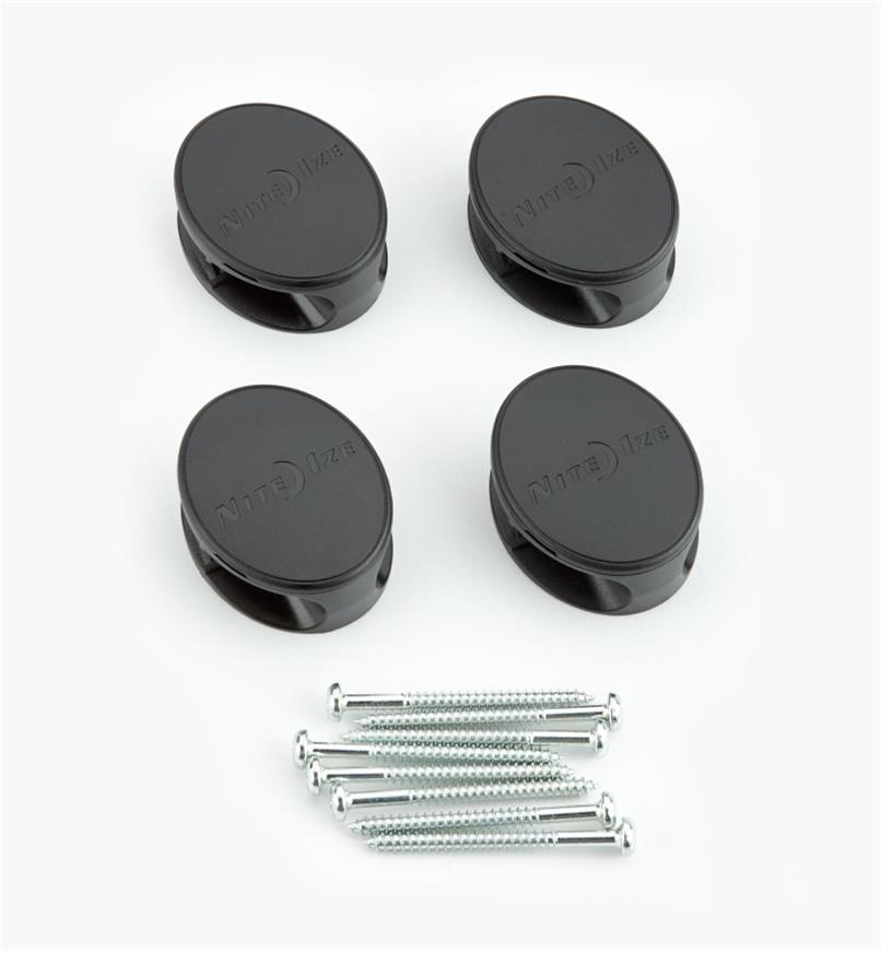 68K0801 - Ancrages pour attaches de 18po et plus Gear Tie, lelotde4