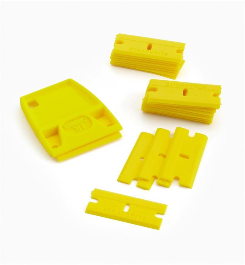 86K0319 - Lames jaunes (25) et porte-lame