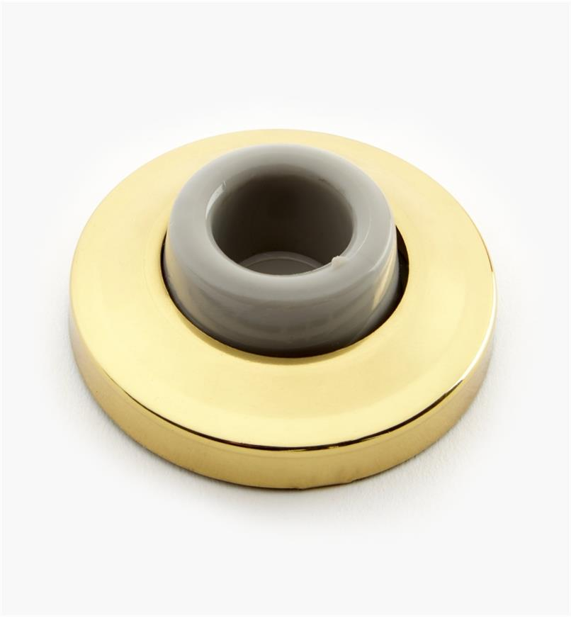 99X0114 - Polished-Brass Wall-Mount Door Bumper, ea.