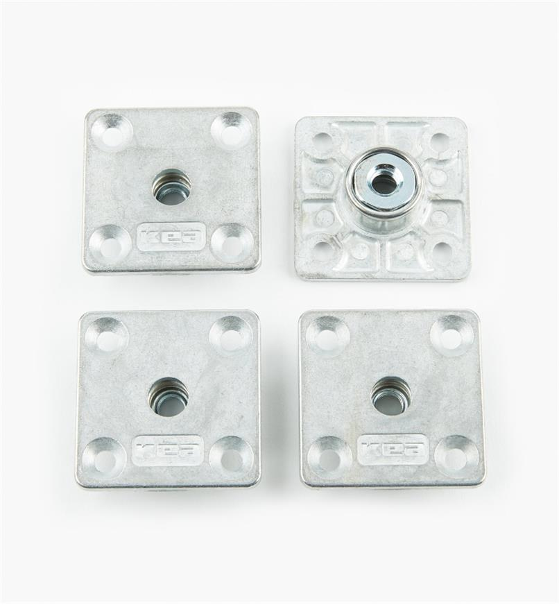 00H3350 - Square Furniture Leg Bushings, pkg. of 4