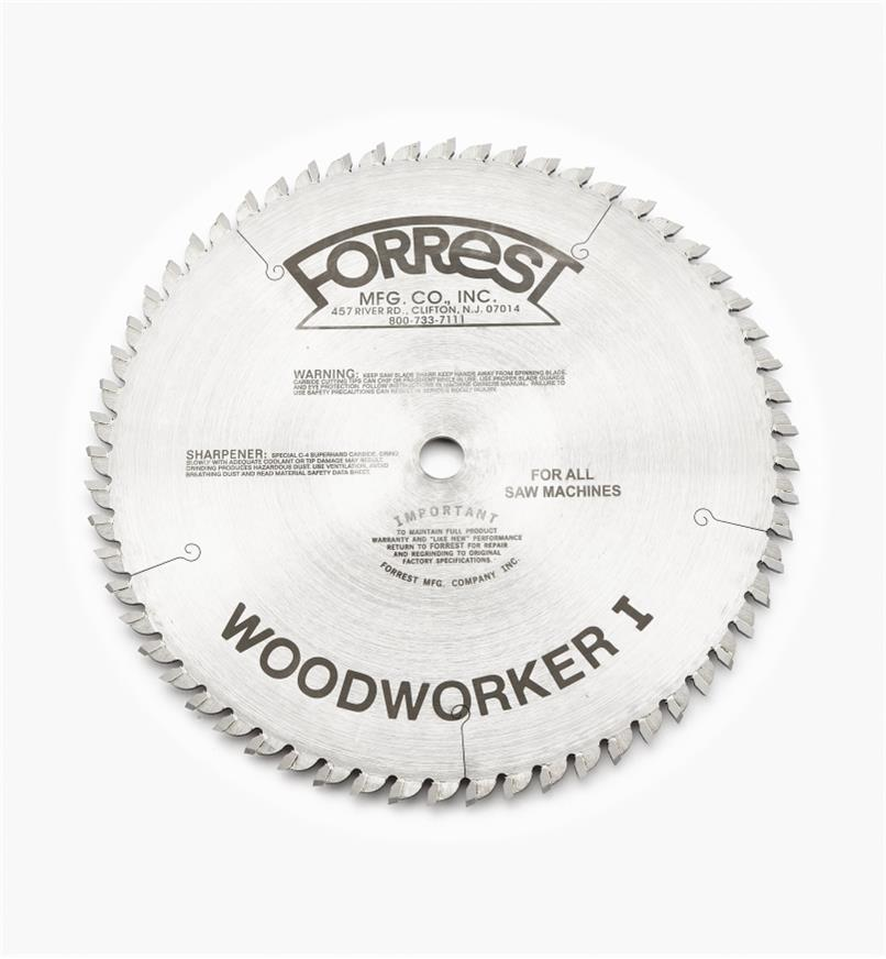 "15T4135 - Woodworker I Blade, 10"" x 60-Tooth, 3/32"" Kerf"