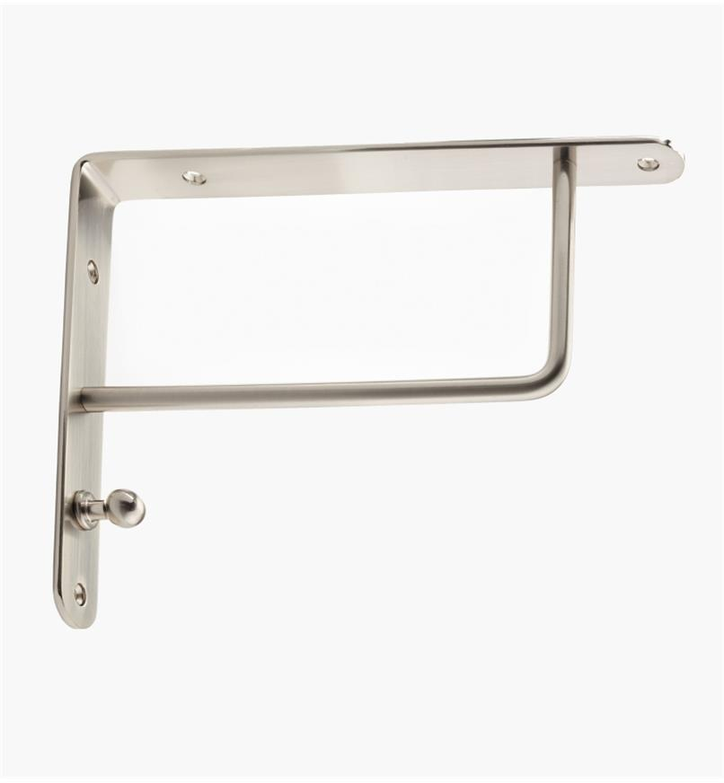 00S0656 -  Flat Steel Shelf Bracket, Brushed Nickel