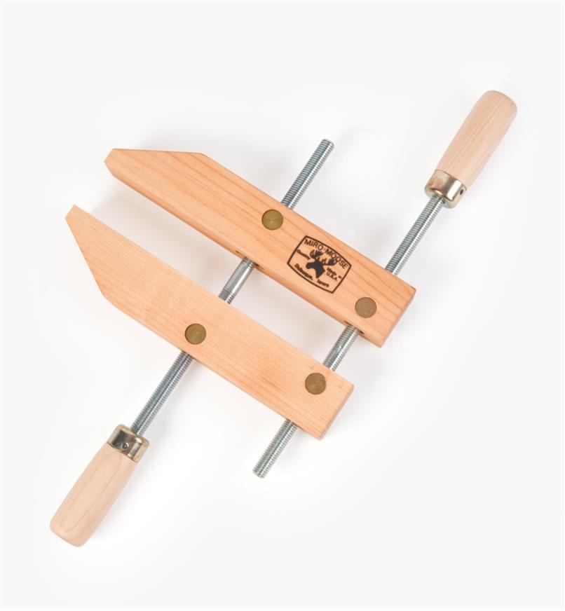 "03F0710 - 10"" x 5"" x 7"" Dubuque Wooden Handscrew, each"