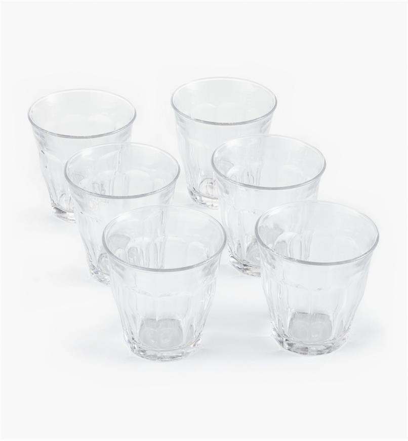44K0806 - Duralex Picardie 250ml (8.5 fl oz) Glasses, set of 6