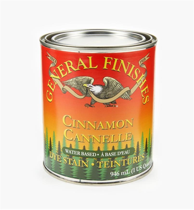 56Z1675 - General Dye Stain - Cinnamon, 1 qt.