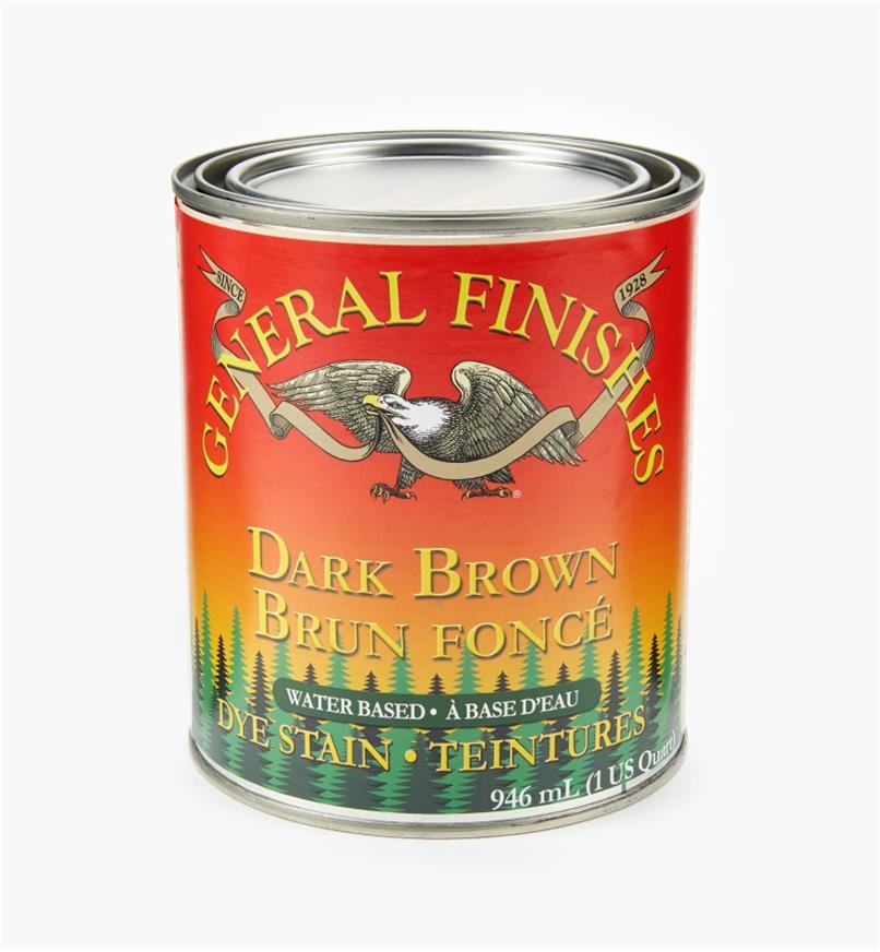 56Z1677 - General Dye Stain - Dark Brown, 1 qt.