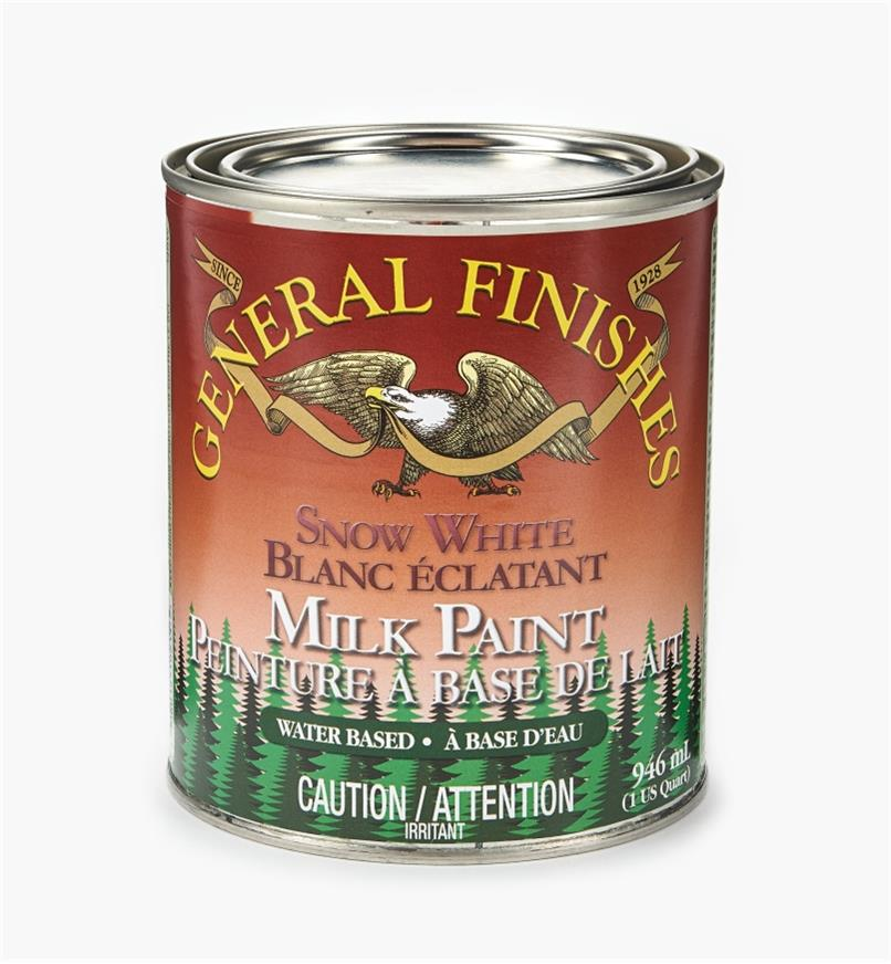 56Z1710 - Snow White General Milk Paint, 1 qt.
