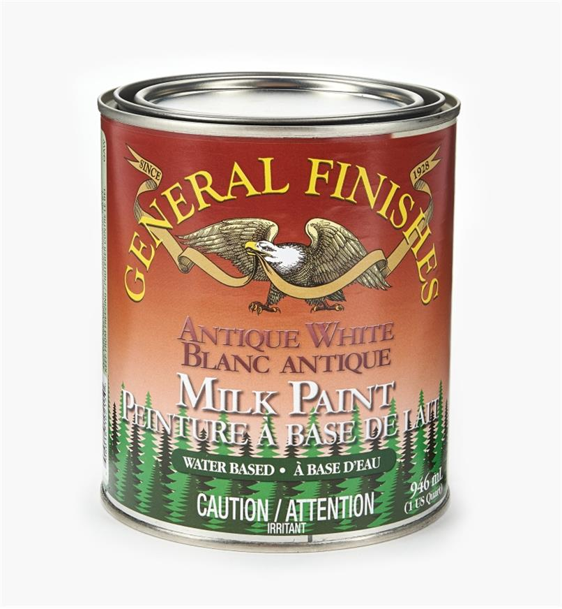 56Z1711 - Antique White General Milk Paint, 1 qt.