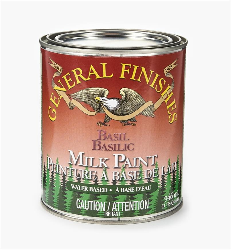 56Z1715 - Basil General Milk Paint, 1 qt.
