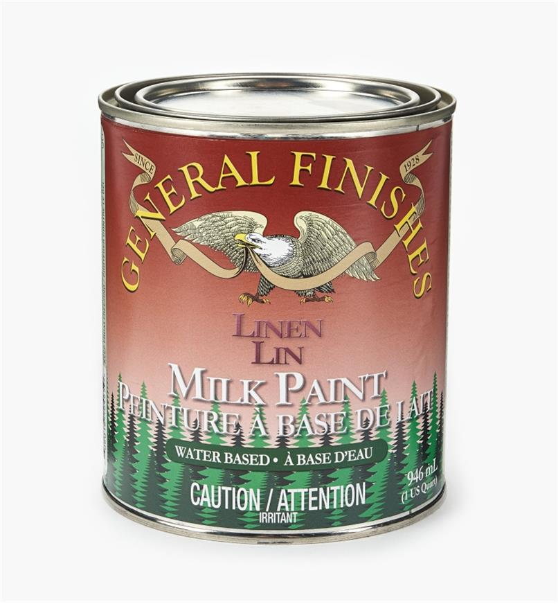 56Z1722 - Linen General Milk Paint, 1 qt.
