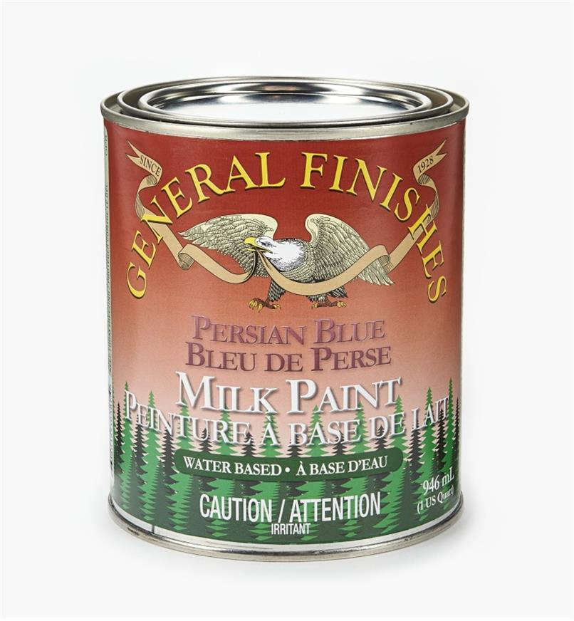 56Z1724 - Persian Blue General Milk Paint, 1 qt.