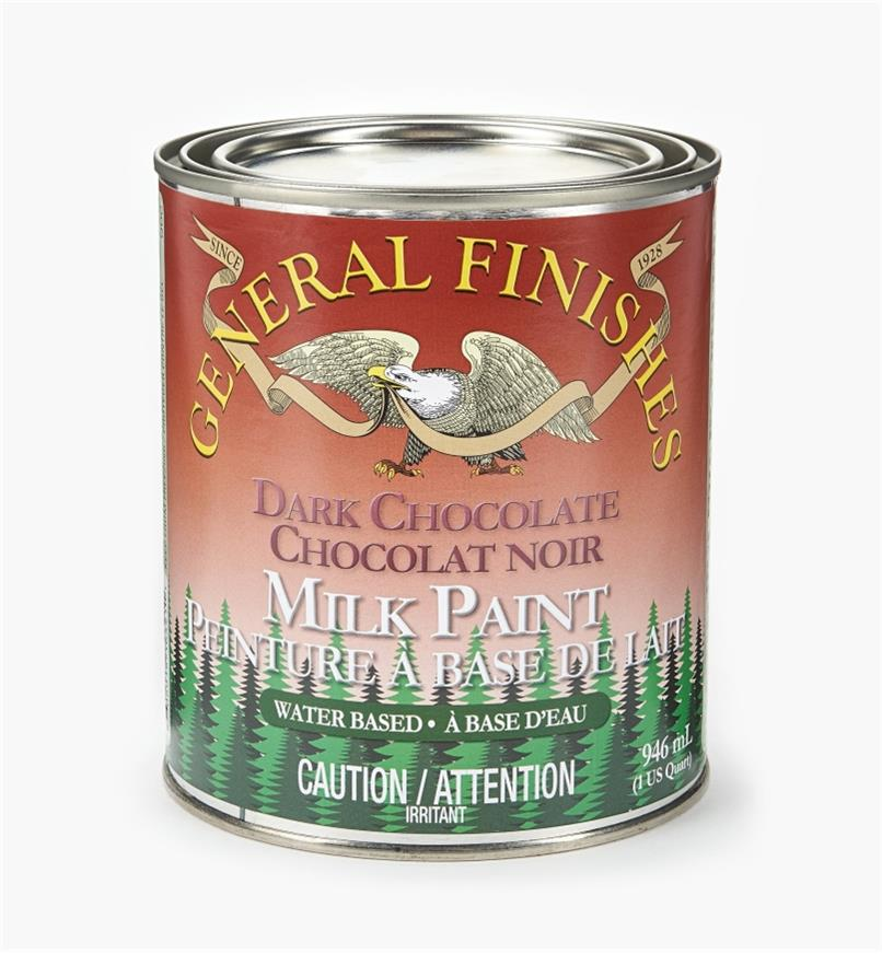 56Z1725 - Dark Chocolate General Milk Paint, 1 qt.