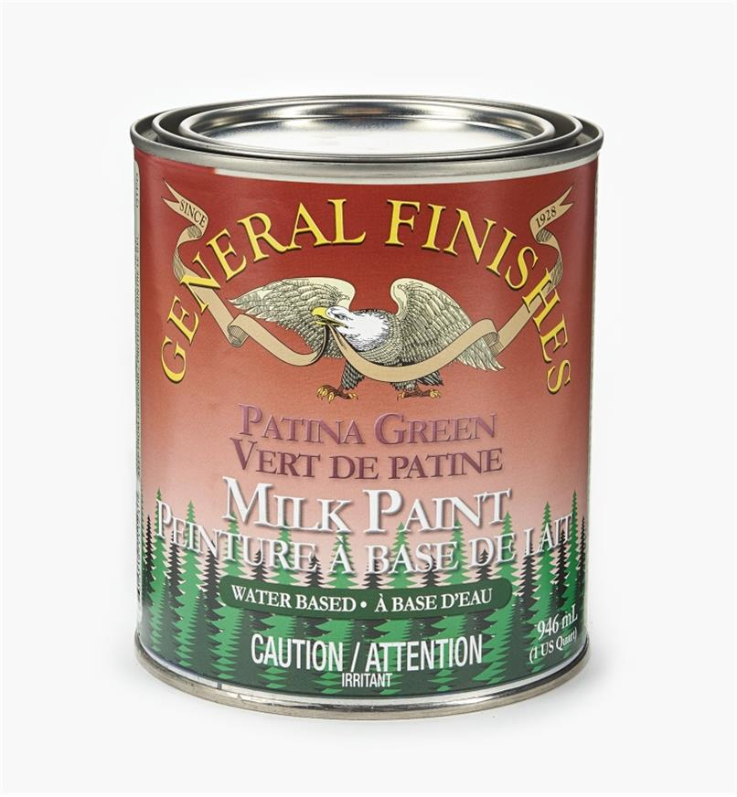 56Z1726 - Patina Green General Milk Paint, 1 qt.