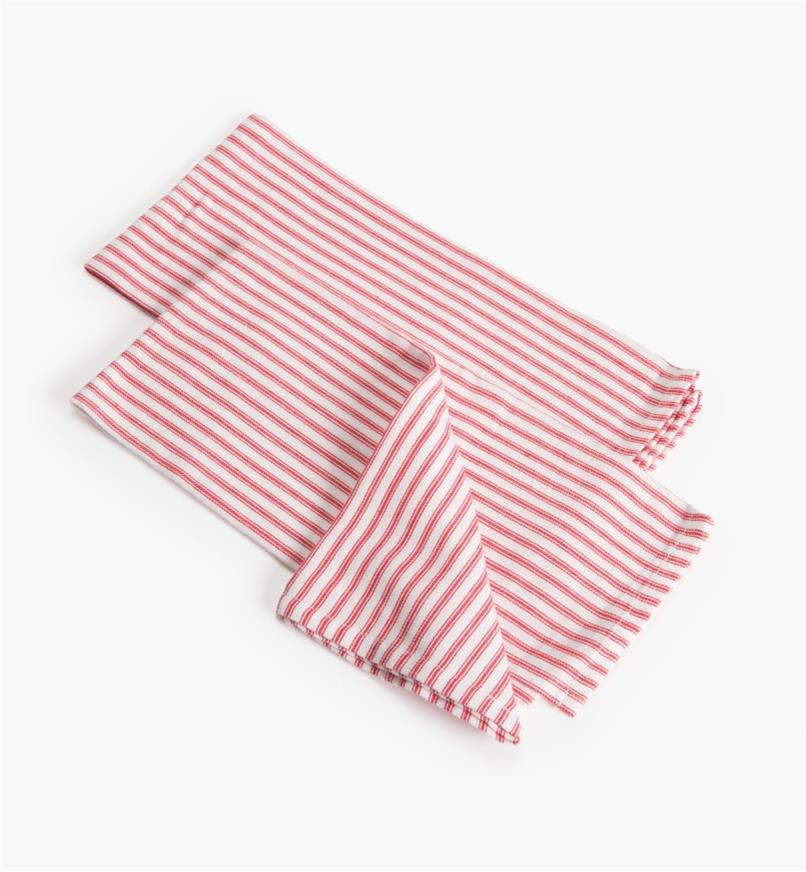 88K5862 - Red Stripe Glass Towels, pr.