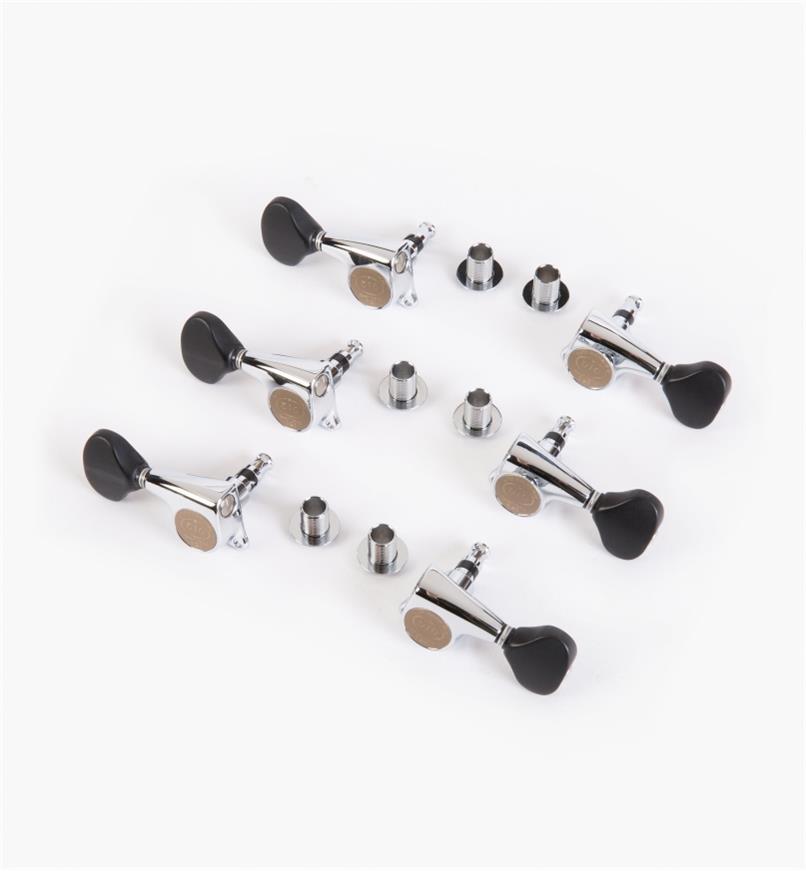 60J0254 - Mécaniques pour cordes en acier Gotoh, fini chromé