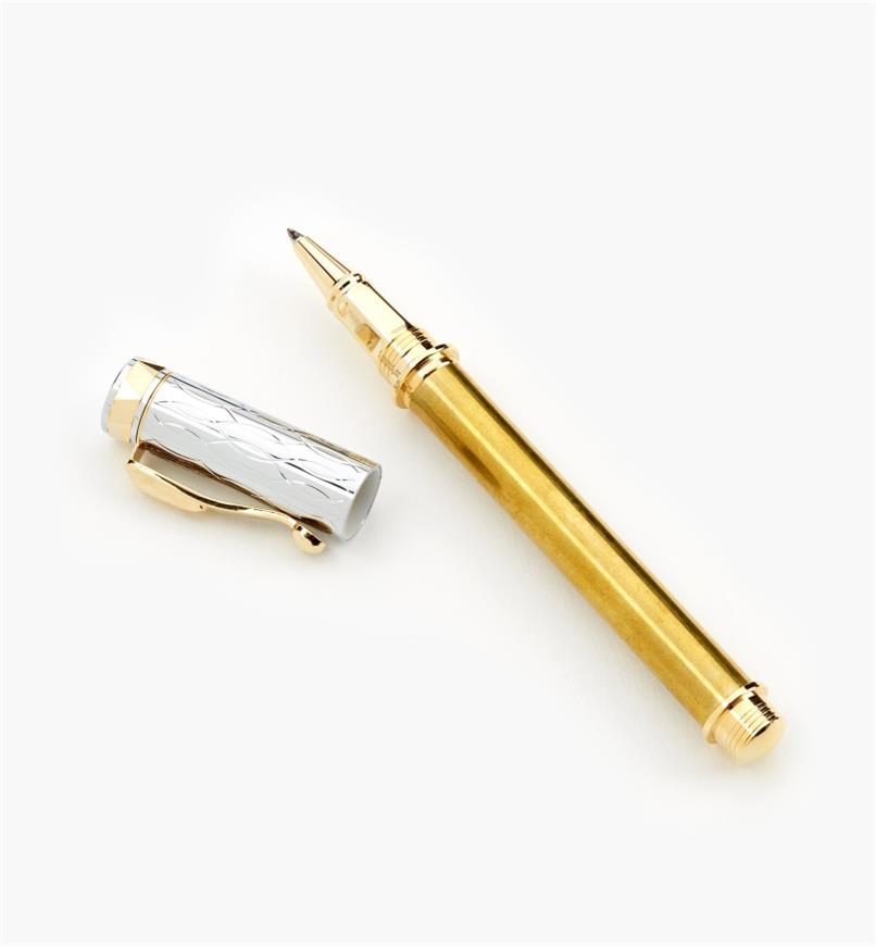 88K7615 - Electra Rollerball Pen, Gold/Chrome