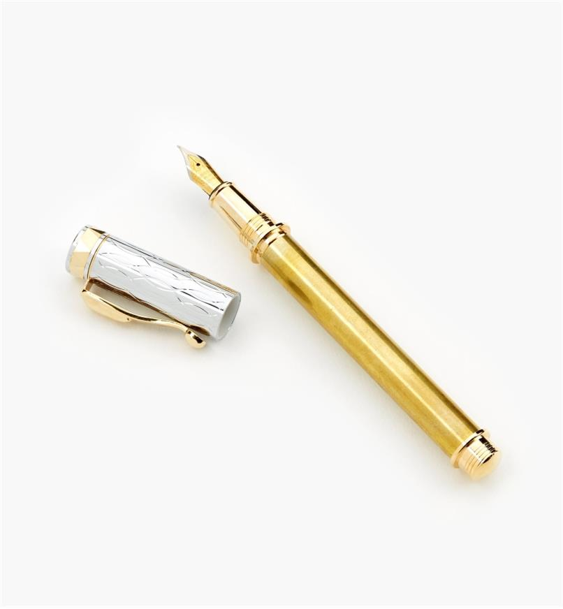 88K7616 - Electra Fountain Pen, Gold/Chrome