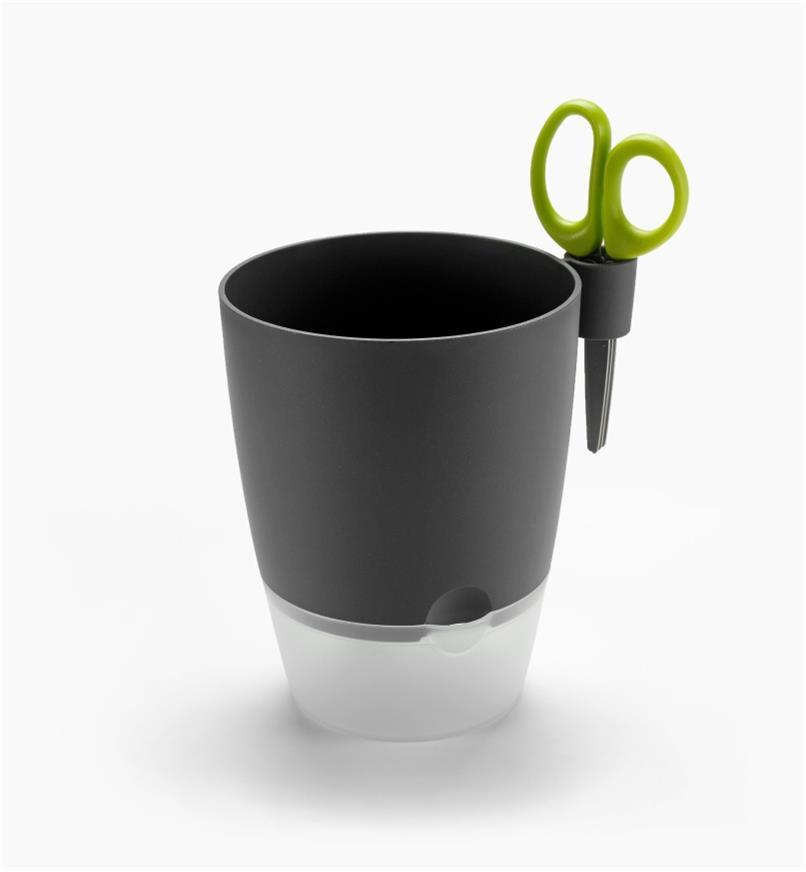 XB720G - Elho Windowsill Herb Pot, Gray