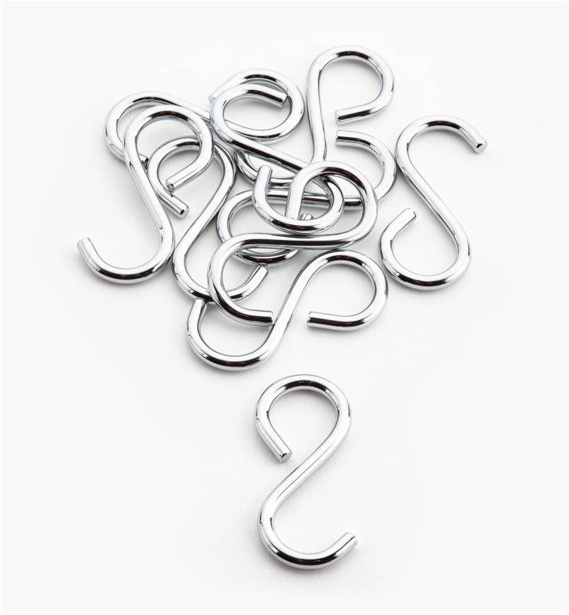 12K3420 - 8.5mm Single Trapped Hooks, pkg. of 10