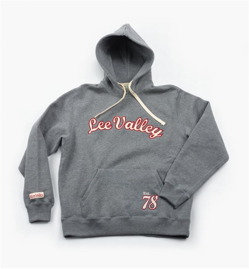 "67K6749 - XXSmall (34""-36"") Gray Lee Valley Pullover Hooded Sweatshirt"