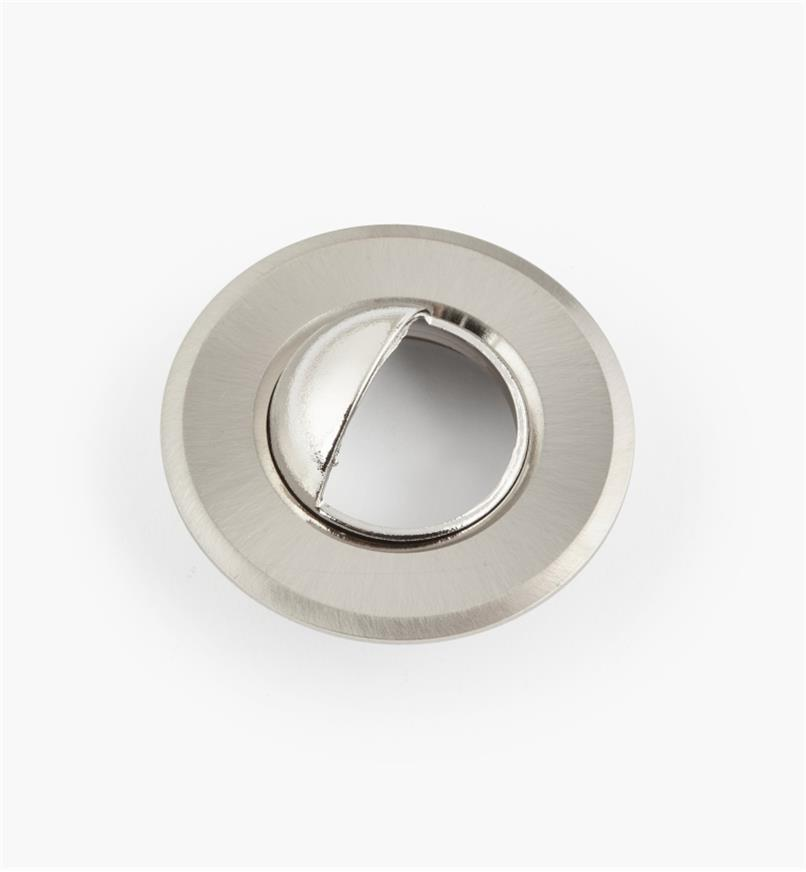 "00U4357 - 1 1/2"" Brushed Steel Round Aluminum Trim Ring with Shield"