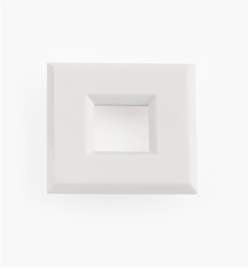 "00U4365 - 1 9/16"" White Square Polycarbonate Trim Ring"