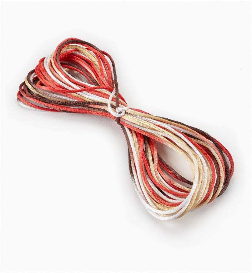 09A0743 - Multicolor, Earth Tones Rattail Cord