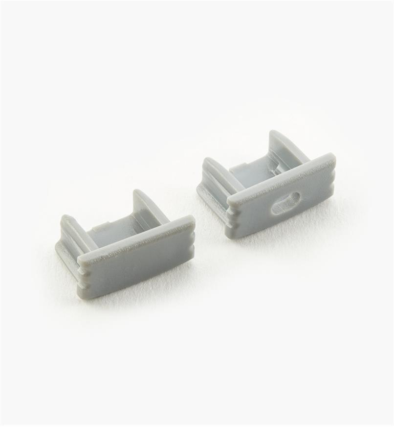 00U4245 - End Caps for Surface-Mount Channel, pair