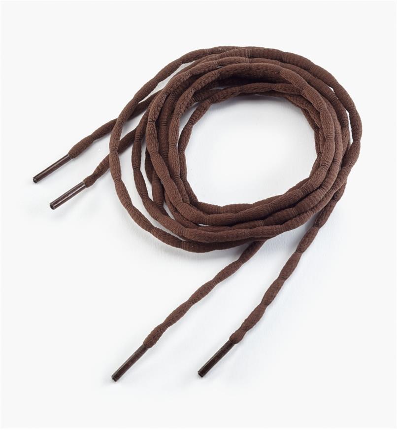 09A0664 - Lacets ondulés de 54 po, brun, la paire