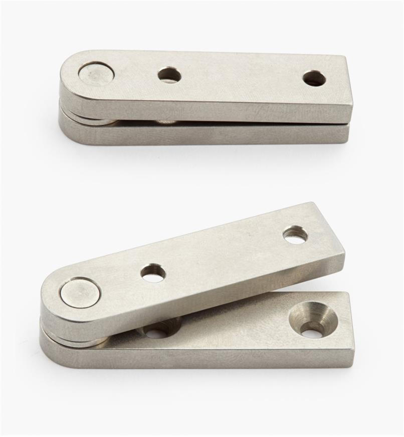 "05H0128 - 1/2"" x 2"" x 3/16"", Stainless Steel Straight Knife Hinges, pair"